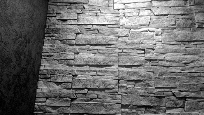 Отделка стен гипсовой плиткой под камень