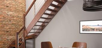 Лестница для загородного дома на второй этаж – деревянная, металлическая, из бетона, фото
