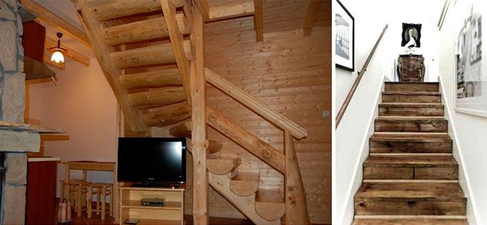 Деревянные лестницы для загородного дома – фото