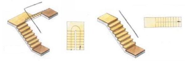 Формы лестницы в интерьере загородного дома