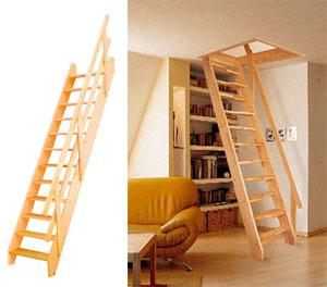 лестницы с простым пролетом и чердачные