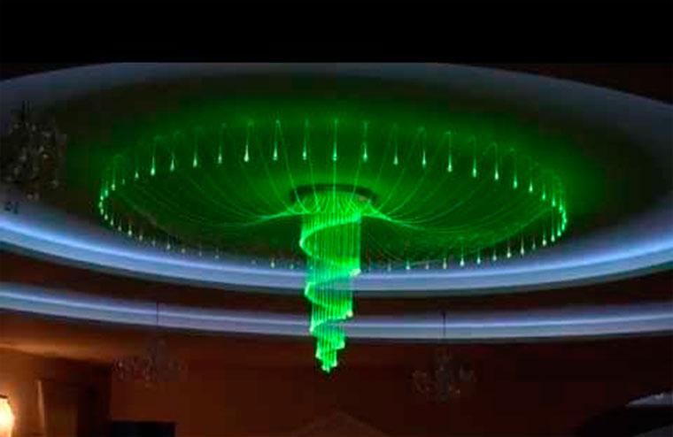 Красивые люстры в зал на натяжной потолок – фото