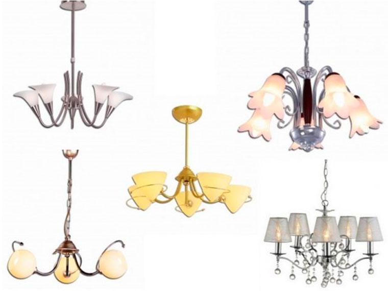 Классические красивые люстры для зала – фото