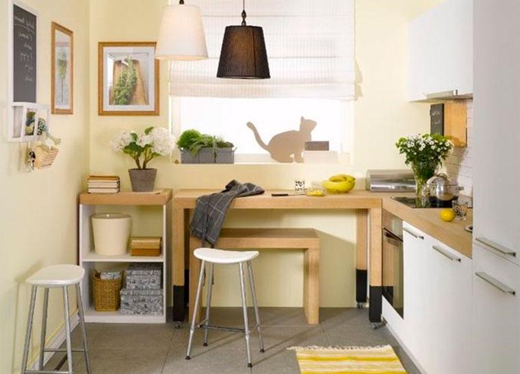 Как сделать уютнее маленькую кухню