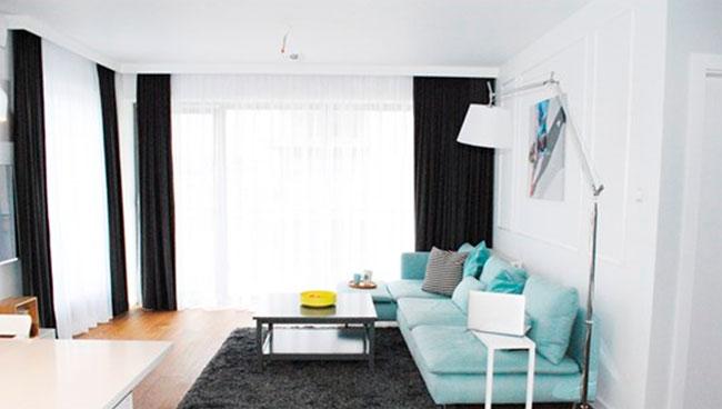 занавески в гостиную с традиционными узорам