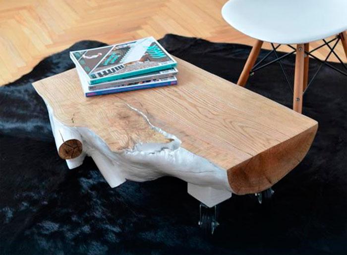Как сделать из пня стол