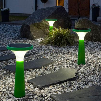Где поставить светодиодные светильники на солнечных батареях для дачи