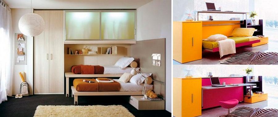 Спальный гарнитур-трансформер для маленькой спальни – фото
