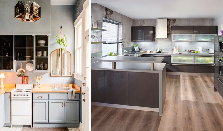 Fashionable color in the kitchen 2017