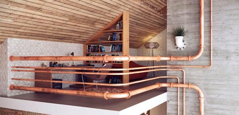 Интерьер дома в стиле лофт – фото
