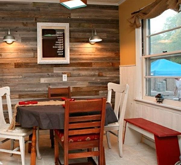 Деревянные панели для отделки стен в стиле лофт – фото