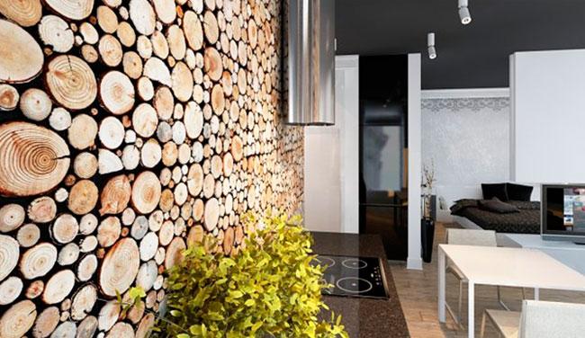варианты использования деревянных панелей для стен – фото интерьеров