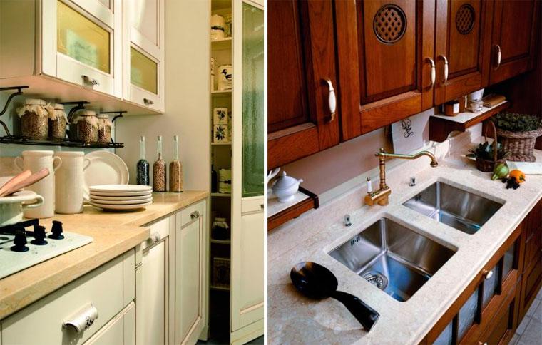Полочка на кухню для специй из дерева и металла – фото
