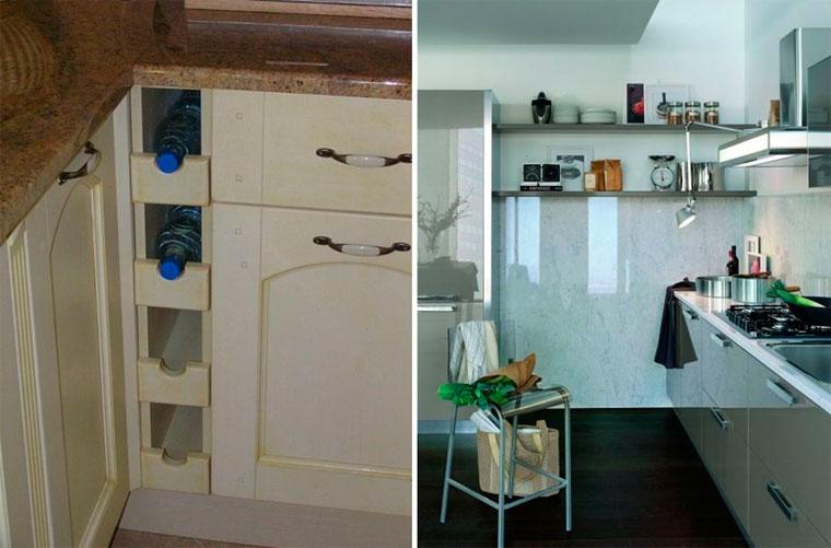 Угловые полочки на кухню – фото