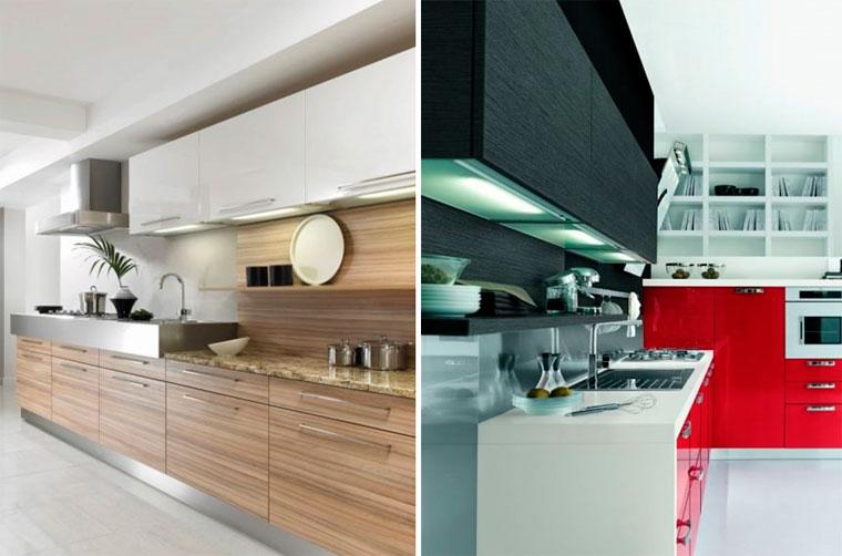 Полочки на кухню над столом и столешницей