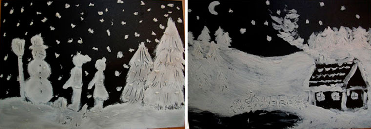 готовые варианты зимних картин