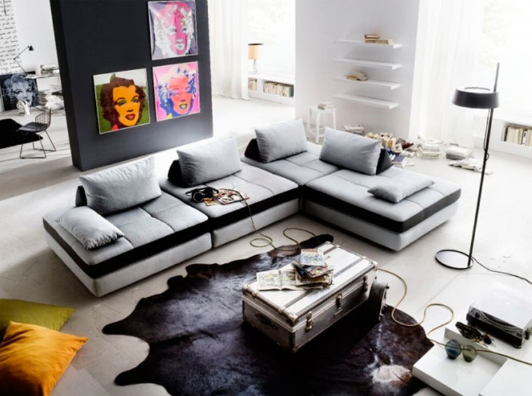 Серая мебель в интерьере – фото