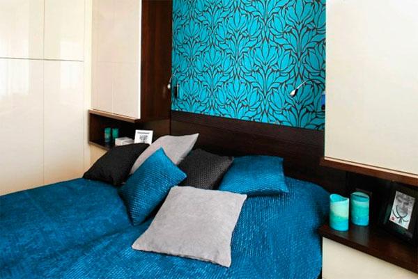 Дизайн маленькой спальни 9 кв м – фото