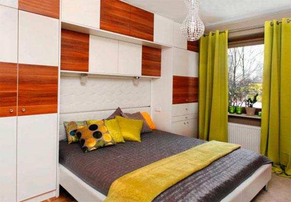 Дизайн маленькой спальни 9 метров – фото