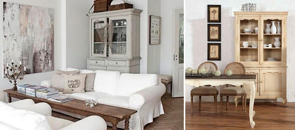 Мебель в интерьере в стиле прованс