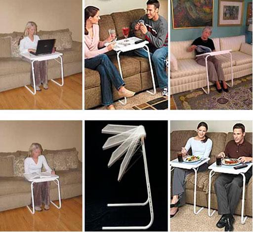 Складной маленький компьютерный столик – фото вариантов применения