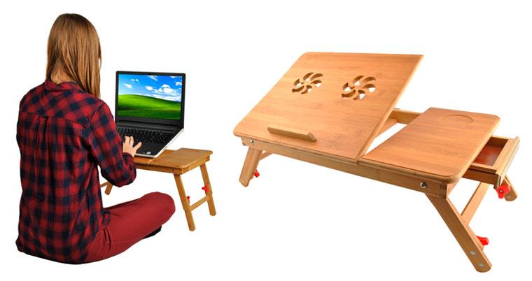 Маленькие компьютерные столики на коротких ножках