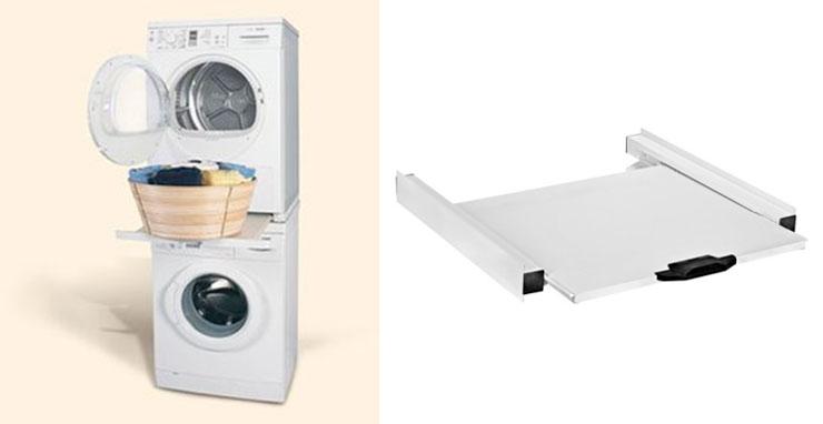 Фото. Как поставить стиральную машинку и сушилку в колонну