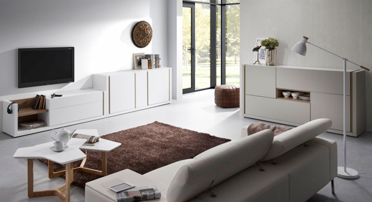 Шкафы-тумбы под ТВ модного белого цвета