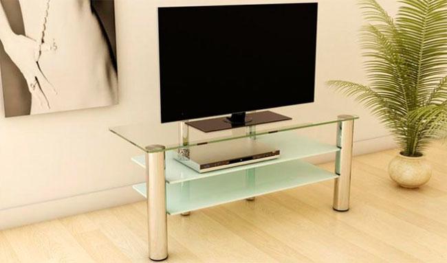 Стеклянная мебель – подставка под телевизор