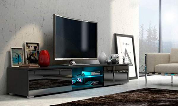 Мебель под телевизор в современном стиле – фото