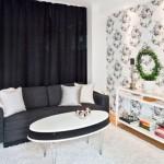 Зонирование комнаты с помощью штор – фото