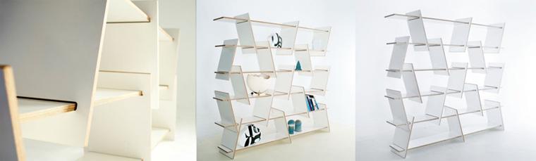 Шкаф «Italic» взял свое название от наклонного шрифта Italic. Мебель дает неограниченные возможности размещения и имеет уникальный вид.