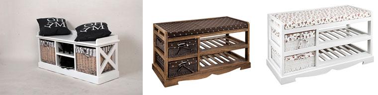 Фото. Этажерка для обуви в прихожую деревянная с сиденьем