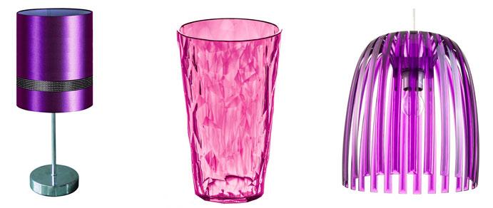 Дизайн гостиной в фиолетовых тонах – фото