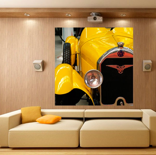 Желтый в гостиной