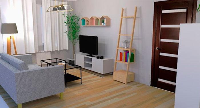 Дизайн прямоугольной гостиной 20 кв м, фото