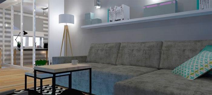 Прямоугольная гостиная дизайн, фото
