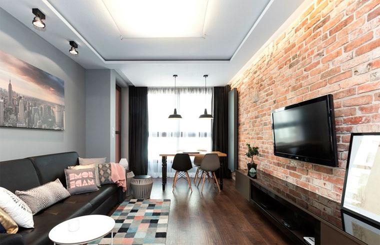 Дизайн прямоугольной гостиной 18 кв м – фото