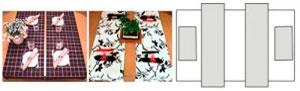 Параллельные дорожки и салфетки или японский стиль