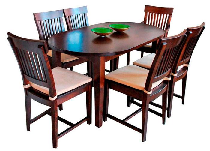 прямоугольный стол с закругленными углами