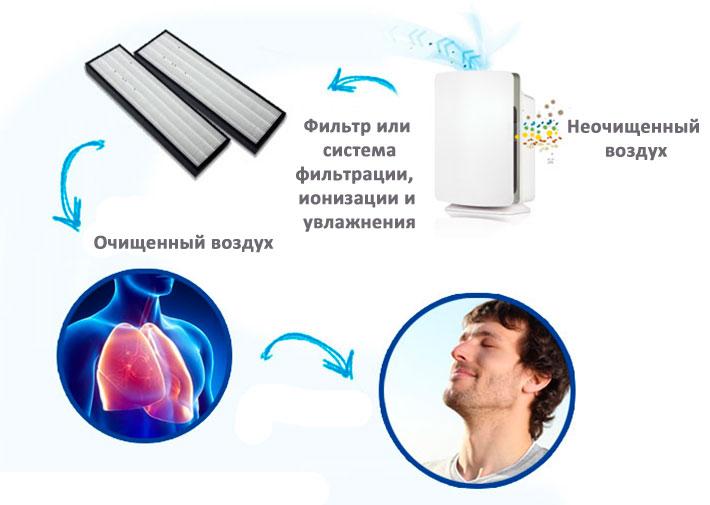 Как работает очиститель воздуха
