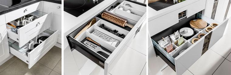 организация пространства в кухонных ящиках