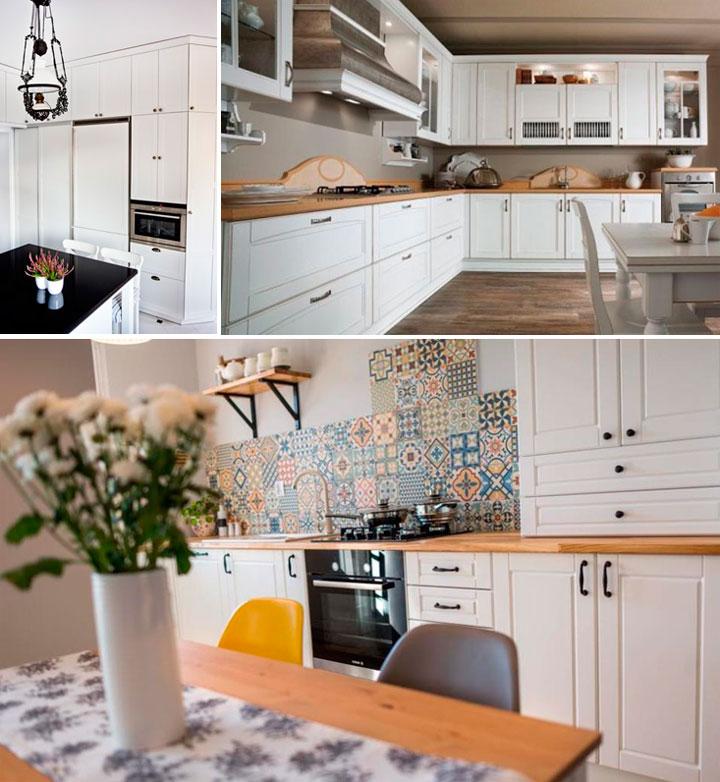Классические кухни белого цвета фото в интерьере