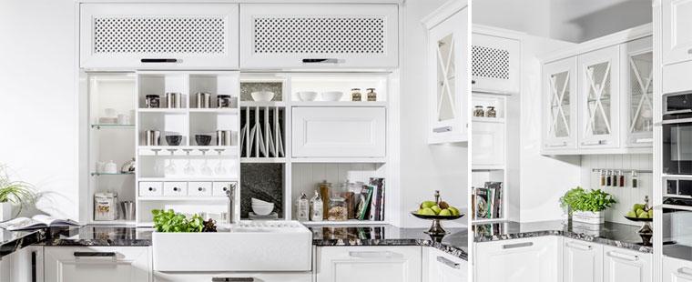 Кухня в белом цвете, фото