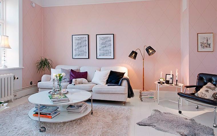 Wohnzimmer wandfarbe weis