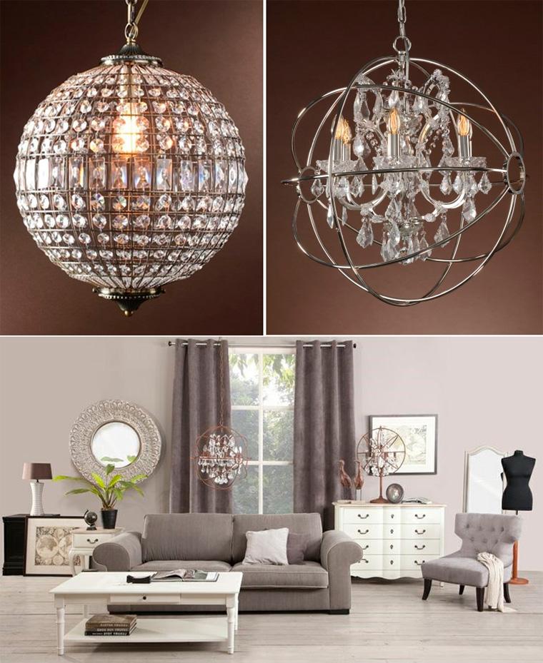 Стеклянные люстры в современном стиле