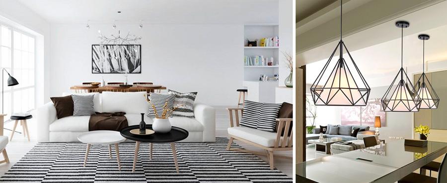 Современные люстры для гостиной в скандинавском стиле, фото