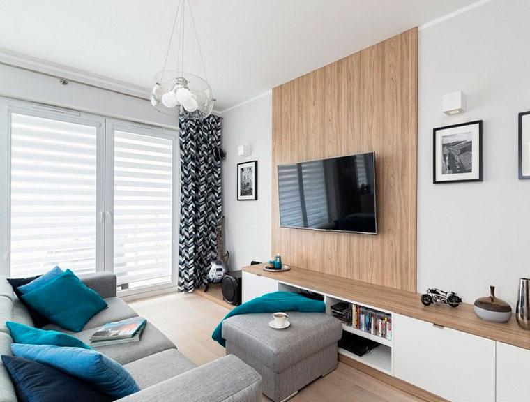 Расстановка мебели в прямоугольном зале