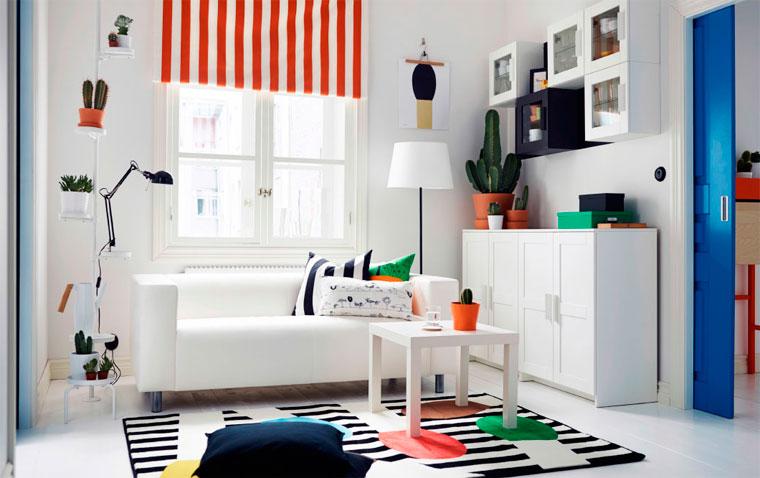 Как расставить мебель в проходном зале, фото