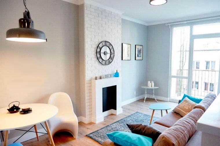 Как украсить небольшой стильный зал